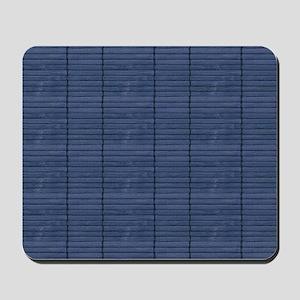 Dk Blue Wooden Slat Blinds Mousepad