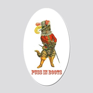 Puss in Boots, Dressed to Ki 20x12 Oval Wall Decal