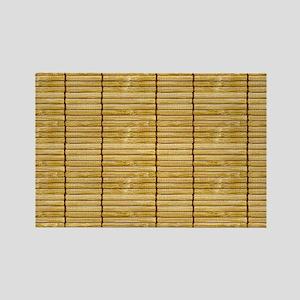 Tan Wooden Slat Blinds Rectangle Magnet