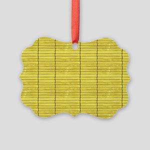 Gold Wooden Slat Blinds Picture Ornament