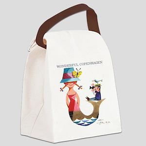 Vintage Copenhagen Mermaid Bird P Canvas Lunch Bag