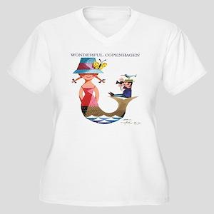 Vintage Copenhage Women's Plus Size V-Neck T-Shirt