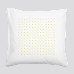 Yellow Polka Dot D2 Square Canvas Pillow