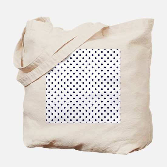 Navy Blue Polka Dot D1b Tote Bag