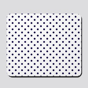 Navy Blue Polka Dot D1b Mousepad