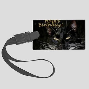 Stern Birthday Kitty Large Luggage Tag