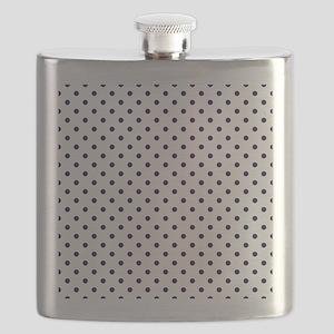 Navy Blue Polka Dot D1b Flask