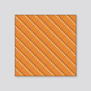 "Orange Brown Pink White Pol Square Sticker 3"" x 3"""