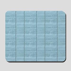 Light Blue Wooden Slat Blinds Mousepad