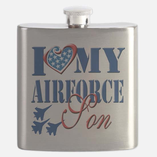 I Love My Airforce Son Flask