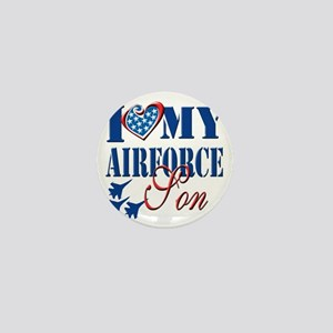 I Love My Airforce Son Mini Button