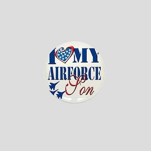 I Love My Airforce Son Mini Button