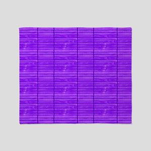 Purple Wooden Slat Blinds Throw Blanket