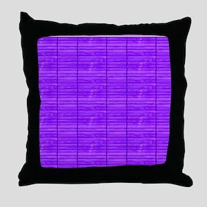 Purple Wooden Slat Blinds Throw Pillow