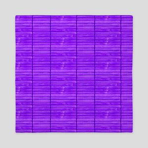Purple Wooden Slat Blinds Queen Duvet