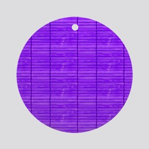 Purple Wooden Slat Blinds Round Ornament