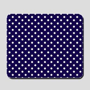 Navy Blue Polka Dot D1 Mousepad