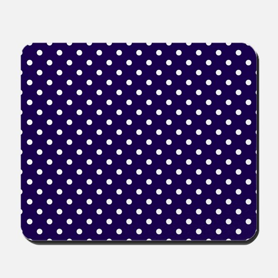 Navy Blue Polka Dot D1 Mousepad