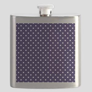 Navy Blue Polka Dot D1 Flask