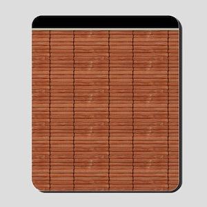 Rust Brown Wooden Slat Blinds Mousepad
