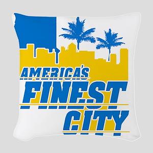 Americas Finest City Woven Throw Pillow