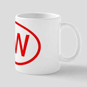 OW Oval (Red) Mug