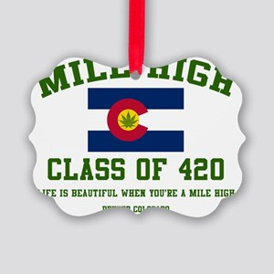Mile High class of 420 Picture Ornament