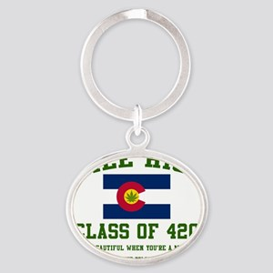 Mile High class of 420 Oval Keychain