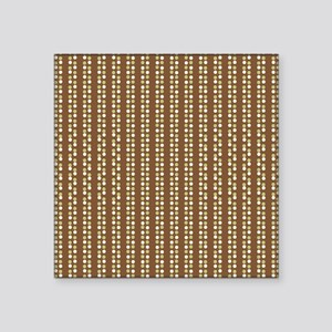 "Brown Green White Polka Dot Square Sticker 3"" x 3"""