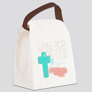 I Will Sing Canvas Lunch Bag