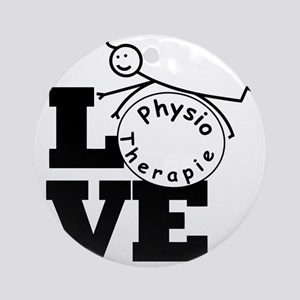 Love Physiotherapie Round Ornament