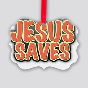 Jesus Saves Picture Ornament