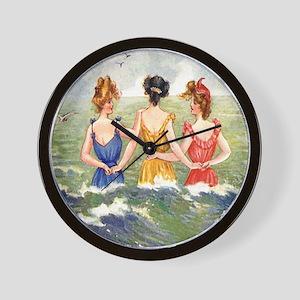 Vintage Victorian Women Seashore Wall Clock