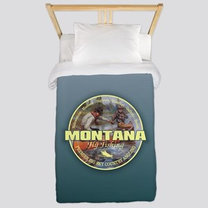 Montana Fly Fishing Twin Duvet Cover
