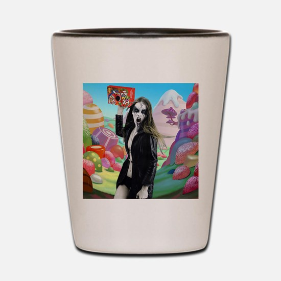 Goth Girl In Candyland 001 Shot Glass