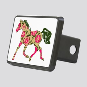 Floral Horse Rectangular Hitch Cover