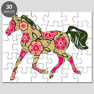Floral Horse Puzzle