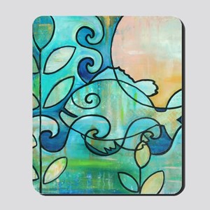 Sunny Fish Underwater Blue by Melanie Do Mousepad