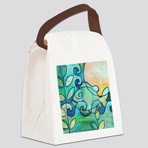 Sunny Fish Underwater Blue by Mel Canvas Lunch Bag
