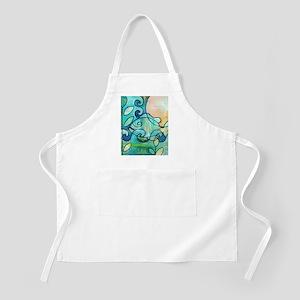 Sunny Fish Underwater Blue by Melanie Douthi Apron