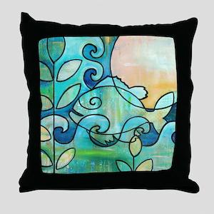 Sunny Fish Underwater Blue by Melanie Throw Pillow
