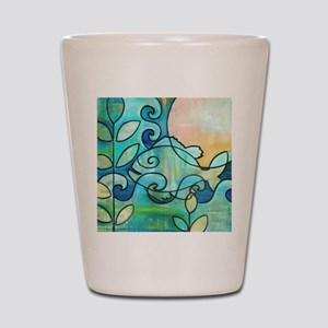 Sunny Fish Underwater Blue by Melanie D Shot Glass