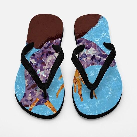 Purple Sea Slug Flip Flops