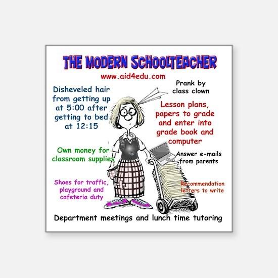 "The Modern Teacher Square Sticker 3"" x 3"""