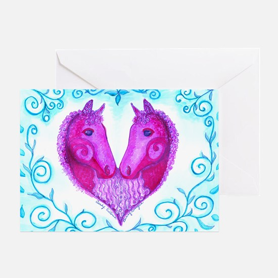 Curly Victoria Purple Greeting Card