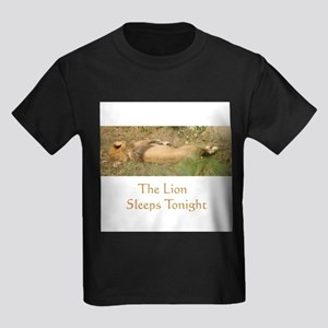 the lion sleeps Kids Dark T-Shirt