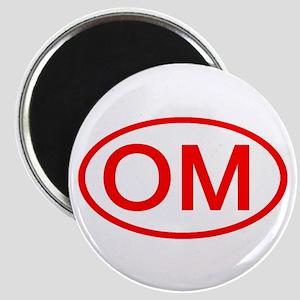 OM Oval (Red) Magnet