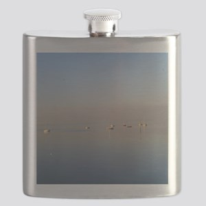 Boats on the water Flask