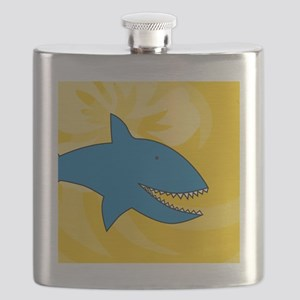 Shark Round Ornament Flask
