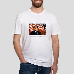 Ronald Reagan Memorial Fitted T-Shirt